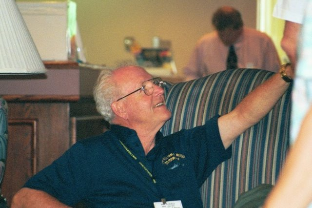 Jim Golden at the 1999 reunion; photo courtesy of Mike Dutton