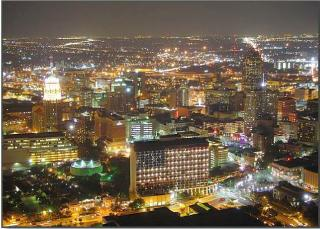 San Antonio, Texas at night.